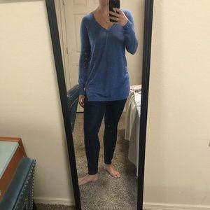 Blue sweater, light GAP